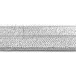 Ibiza elastiek, effen, 15mm, Lichtgrijs, 1 m