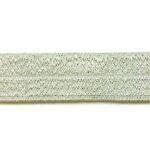 Ibiza elastiek, effen, 15mm, Ivoor, 1 m