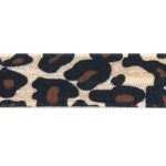 Ibiza elastiek, Luipaard, 15mm, Bruin, 1 m
