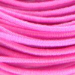 Gekleurd elastiek rond,  1mm, Roze, 1 m