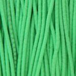 Gekleurd elastiek rond,  1mm, Felgroen, 10 m