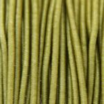 Gekleurd elastiek rond,  1mm, Armygroen, 1 m