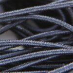 Gekleurd elastiek rond,  1mm, Zwart, 10 m