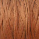 Ibiza elastiek plat/rond, vintage, 5x3mm, Bruin, 2 m