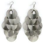 Oorbellenpaar, metalen ringen, 58x132mm, 1 st