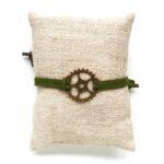 Armbandje, Gear wheel, Bruin, 1 st