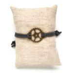 Armbandje, Gear wheel, Olijfgroen, 1 st