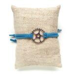 Armbandje, Gear wheel, Blauw, 1 st