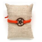 Armbandje, Gear wheel, Oranje, 1 st