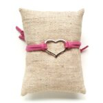 Armbandje, Heart, Roze, 1 st
