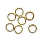 Montage-ring,  6 mm, 0,8 mm dik, Goudkleurig, 100 st
