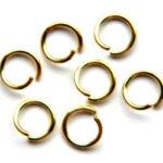 Montage-ring,  8 mm, 1,0 mm dik, Goudkleurig, 100 st