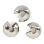 Knijpkraal kapje / verberger, metaal,  5x3mm, Zilver, 50 st
