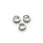 Montage-ring,  5 mm, 1 mm dik, Platina plated, 5mm, 100 st