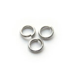 Montage-ring,  6 mm, 1 mm dik, Platina plated, 6mm, 100 st