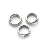 Montage-ring,  8 mm, 1.2 mm dik, Platina plated, 8mm, 100 st