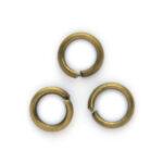 Montage-ring,  6 mm, 1 mm dik, Bronskleur, 100 st