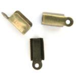 Veterklem, middelgroot (2 veters), bronskleur, 12x5mm, 100 st