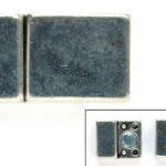 Magneetsluiting, Rechthoekig, strak , opening 10mm, 20x11mm, 1