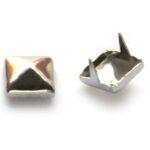 Studs, Piramide, met krammetjes,  6mm, 100 st