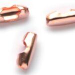 Sluiting voor bolletjesketting (3mm), 10x4mm, Rose Gold, 50 st