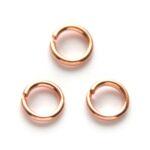 Montage-ring,  6 mm, 1 mm dik, Rose Gold, 100 st