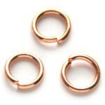 Montage-ring,  8 mm, 1,2 mm dik, Rose Gold, 100 st