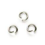Montage-ring DQ, 6 mm, 1.0 mm dik, Zilverkleur, 100 st
