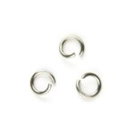Montage-ring DQ, 5 mm, 0.8 mm dik, Zilverkleur, 100 st