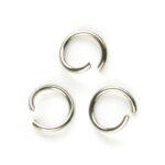 Montage-ring DQ, 8 mm, 1.0 mm dik, Zilverkleur, 100 st