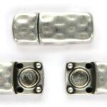 Magneetsluiting DQ, langwerpig, opening 6×2,5 mm, 11x27mm, Antie