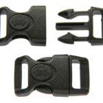 Klikgesp voor parakoord, 40×21,5mm, Zwart, 10 st