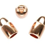 Eindkapje DQ, opening 5mm rond,  8mm, Rose Gold, 4 st