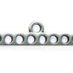 Connector/verdeler, DQ, 8 oogjes, 40x12mm, Antiek zilver, 4 st