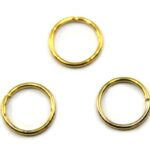 Montage-ring, 10 mm, 1 mm dik, Goudkleurig, 100 st