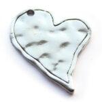 Metalen hart, grillig, 35x45mm, 2 st