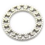 Rond ringornament, zilverkleurig, 34mm, 10 st