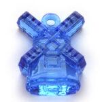 Molen hanger, acryl, 23x30mm, Blauw, 10 st