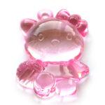 Hello Kitty hanger, acryl, 47x35mm, Roze, 5 st