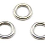 Ronde gladde ring, metaal, 12mm, Zilver, 15 st