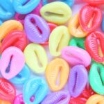 Kauri Cowrie Schelp acryl mix, 17×12,5mm, Heldere kleuren, 25 st