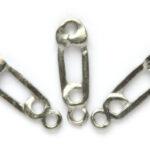 Baby luierspeld, metalen hanger, 7x23mm, 50 st