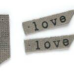 Leren hanger, Love, 50x9mm, Grijs, 5 st