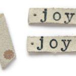 Leren hanger, Joy, 50x9mm, Ivoor, 5 st