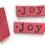 Leren hanger, Joy, 50x9mm, Roze, 5 st