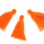 Kwastje, 10x30mm, Oranje, 10 st
