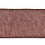Organza lint, 10mm breed, Bruin, 5 m