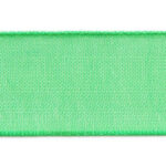 Organza lint, 10mm breed, Groen, 5 m