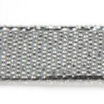 Organza lint, 10mm breed, Zilver, 22,5 meter rol, 1 st