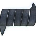 Handgeverfd zijden armbandlint, 2,5x85cm, Zwart, 1 st